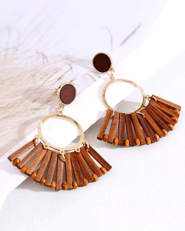 Vintage Wooden Earrings
