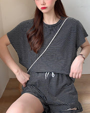 Striped T-Shirt & Shorts