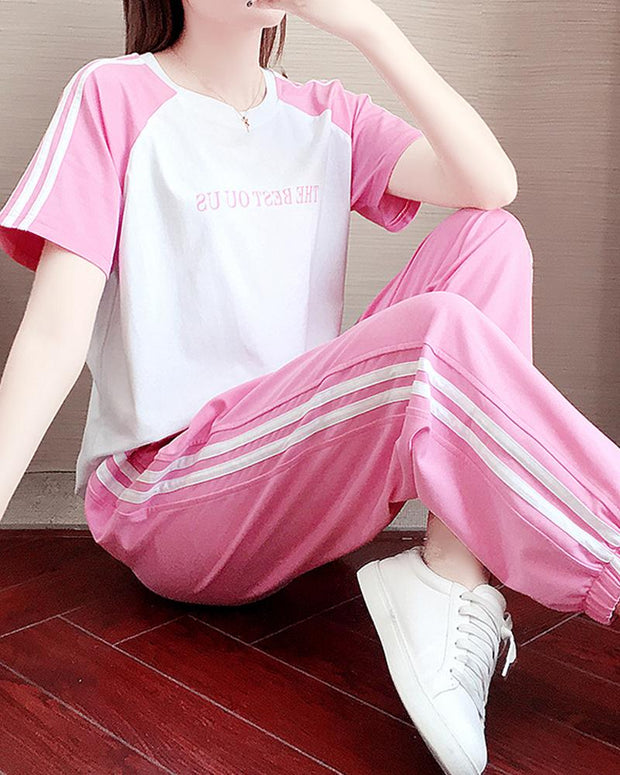 Side Stripe T-Shirt & Joggers