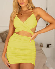 Halterneck Cut Out Bodycon Dress