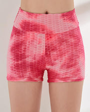 Tie Dye High Waist Yoga Shorts