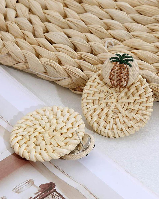 Straw Drop Earrings