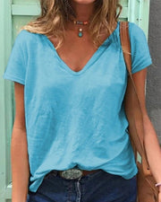 Solid Color Short Sleeve T-shirt