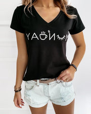 Monday V-Neck T-Shirt