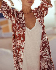 Tropical Boho Print Cover-Up
