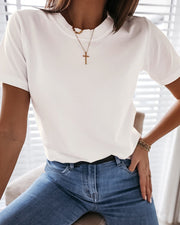 Solid Short Sleeve Casual T-shirt