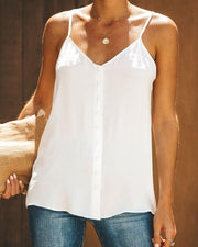 V Neck Sling Solid Top
