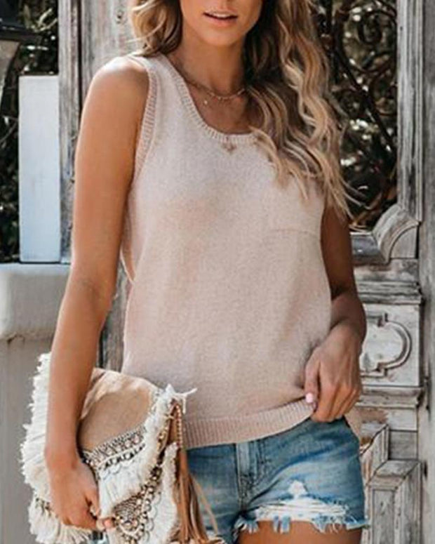 Front Pocket Tank Top