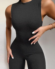 High Neck Slim Fit Jumpsuit