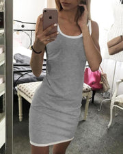 Contrast Trim Cami Mini Dress