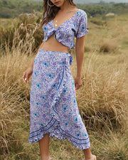Bohemian Print Two-Piece Set