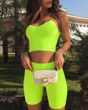 Neon Two-Piece Yoga Set