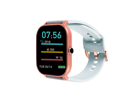 Rose gold & mint green ndur smartwatch