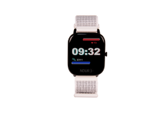 Snow white and black new ndur bluetooth smartwatch. Ndur smartwatch compatible with both iphone and android devices new