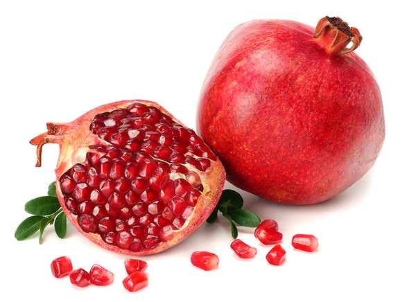Pomegranate Seeds And Milk paste