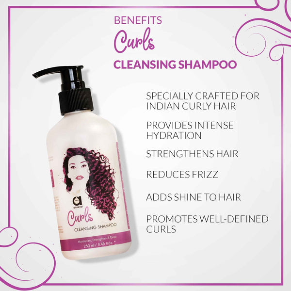 CURLS HAIR CARE COMBO: SHAMPOO, CONDITIONER & HAIR MIST FOR BOUNCY & TANGLE-FREE, CURLY HAIR
