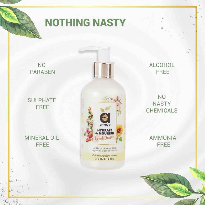 No Nasty Chemicals in hydrate and nourish conditioner