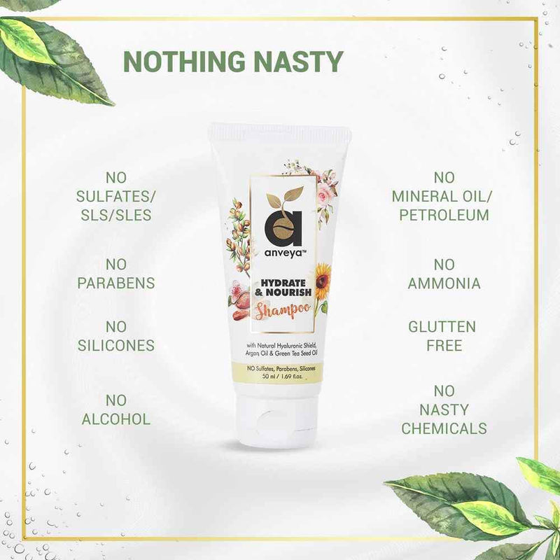 Purity of anveya hydrate and nourish shampoo