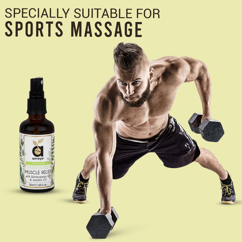 Anveya Muscle relief oil for Sports and Gym massage