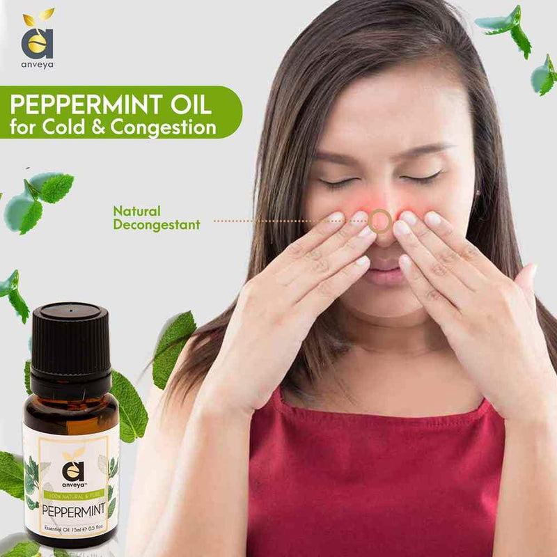anveya peppermint oil for cold & congestion