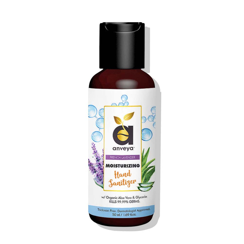 anveya hand sanitizer-moisturize with aloe and french lavender