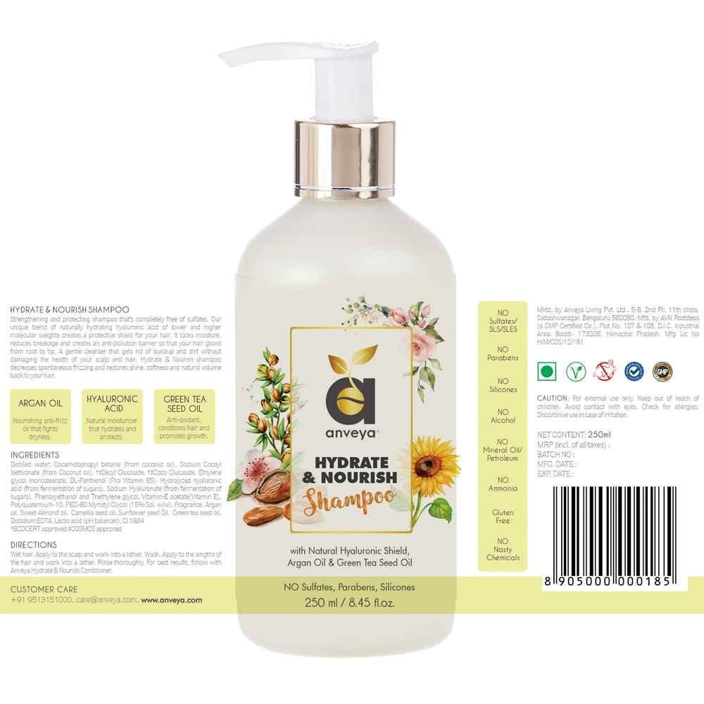 hydrate and nourish shampoo open label