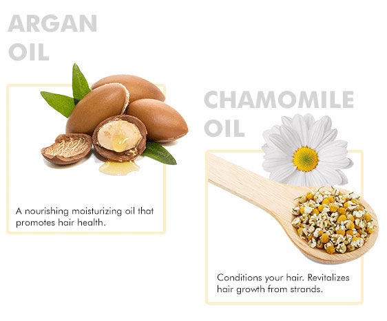 about argan and chamomile ingredients