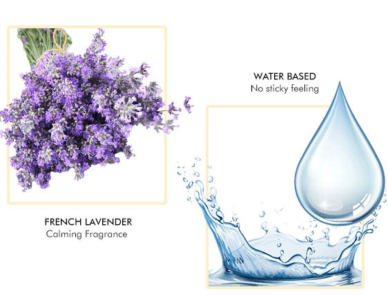 No nasty chemicals- about lavender and water like consistency