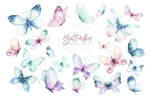 Butterflies Waterslide Decals