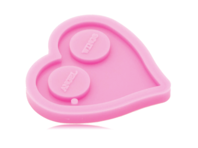 NEW! Heart Defense Keychain Silicone Mold