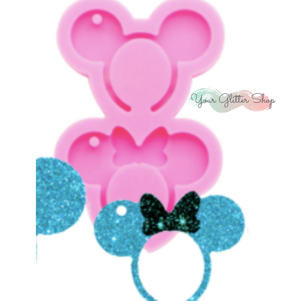 Minnie & Mickey Ears Silicone Mold