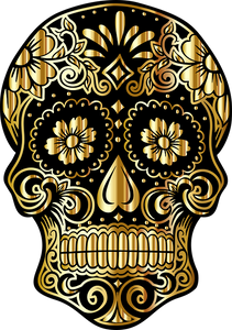 Gold and Black Skull