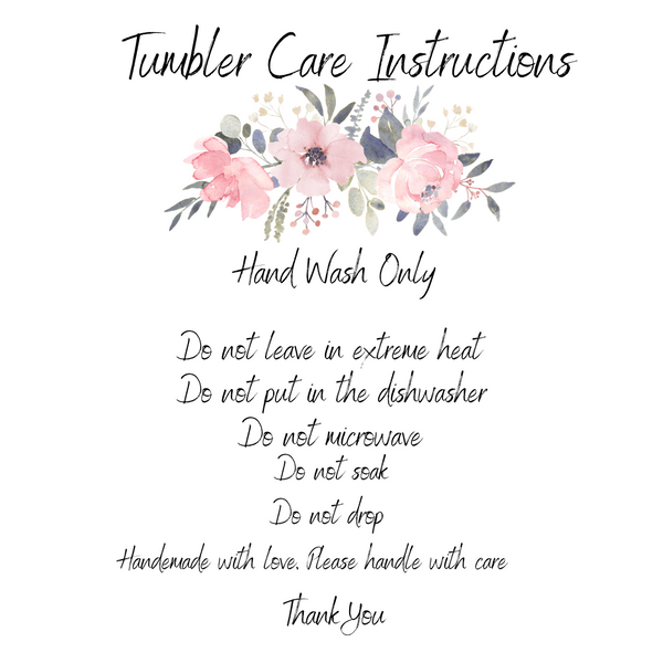 "Tumbler Care Cards ""Peonies"""