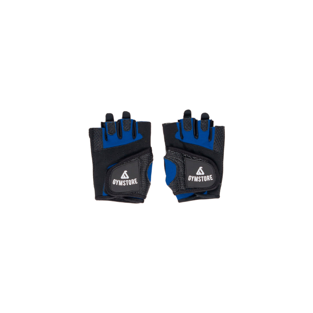 Gymstore Black/Blue Summer Cycling Gloves