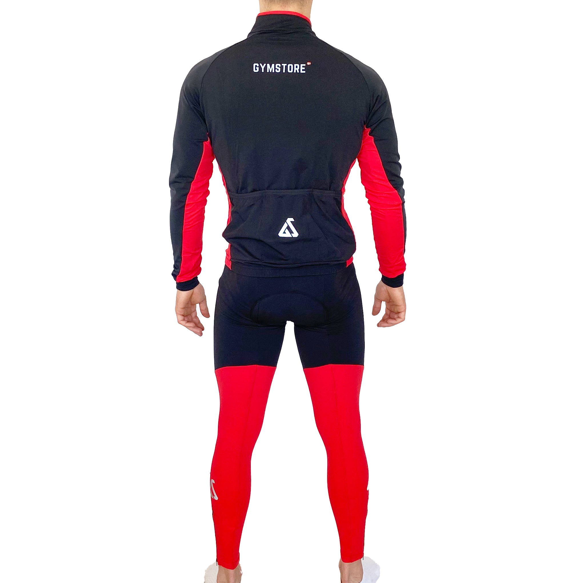 Gymstore Red/Black Cycling Long Bib