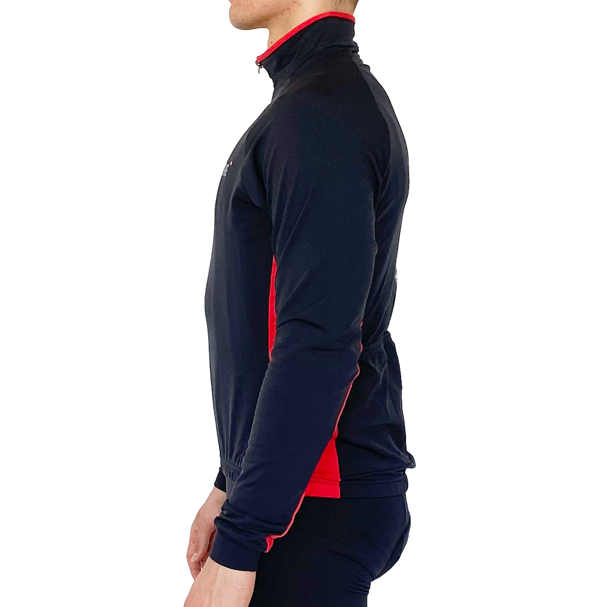Gymstore Black/Red Cycling Full Sleeve Jersey