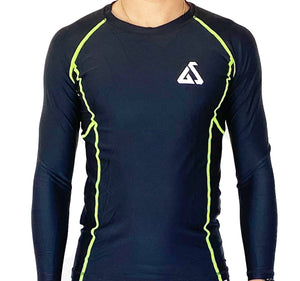 Gymstore Black Gents compression Shirt Full Sleeve