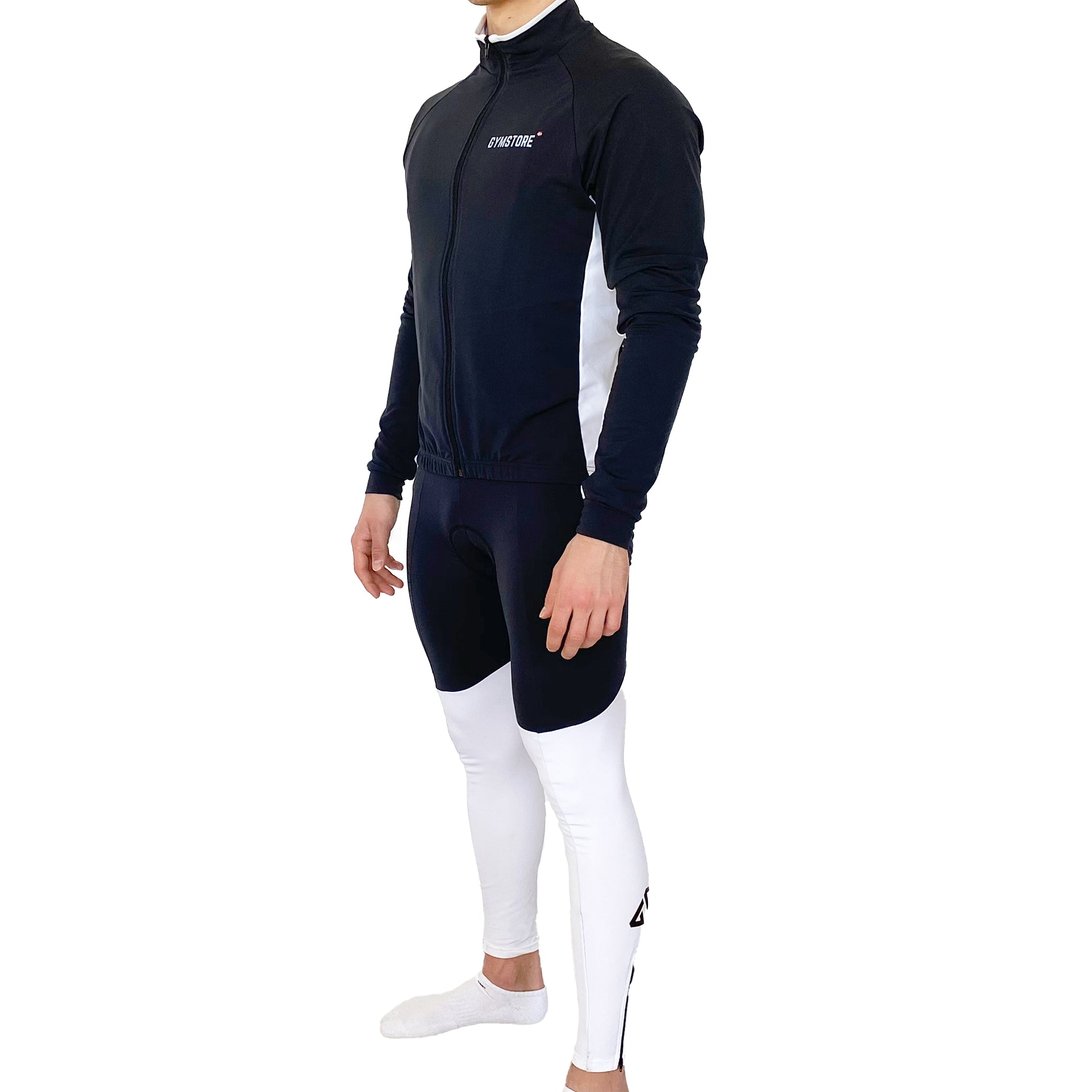 Gymstore Black/White Cycling Long Bib