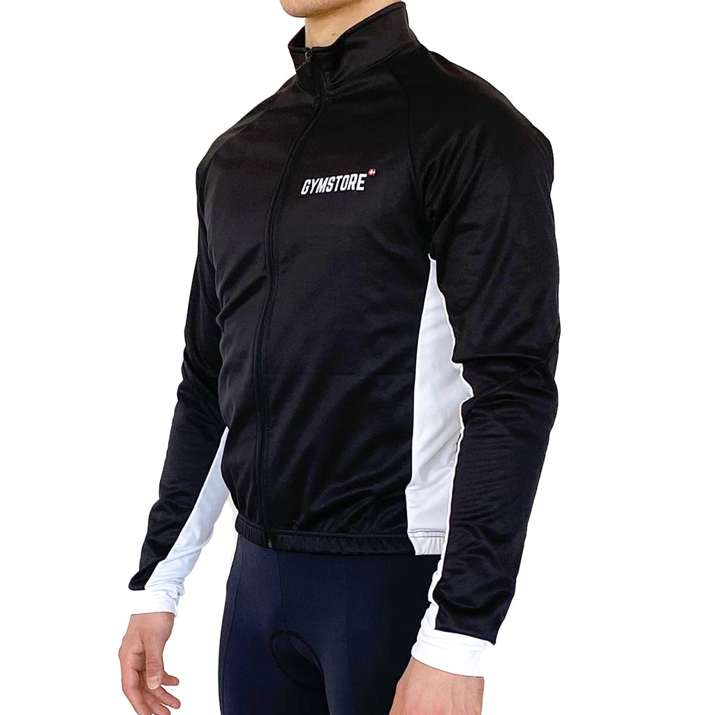 Gymstore Black/White Winter Cycling Jakket