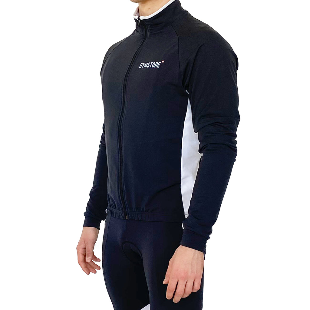 Gymstore Black/White Cycling Full Sleeve Jersey