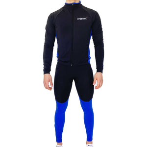 Gymstore Black/Blue Cycling Jersey Full Sleeve