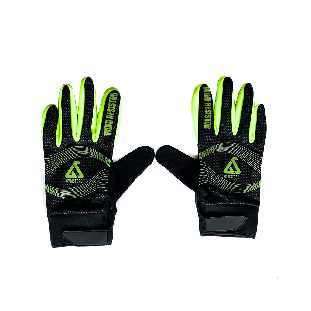 Gymstore Black/Neon Green Cycling Gloves