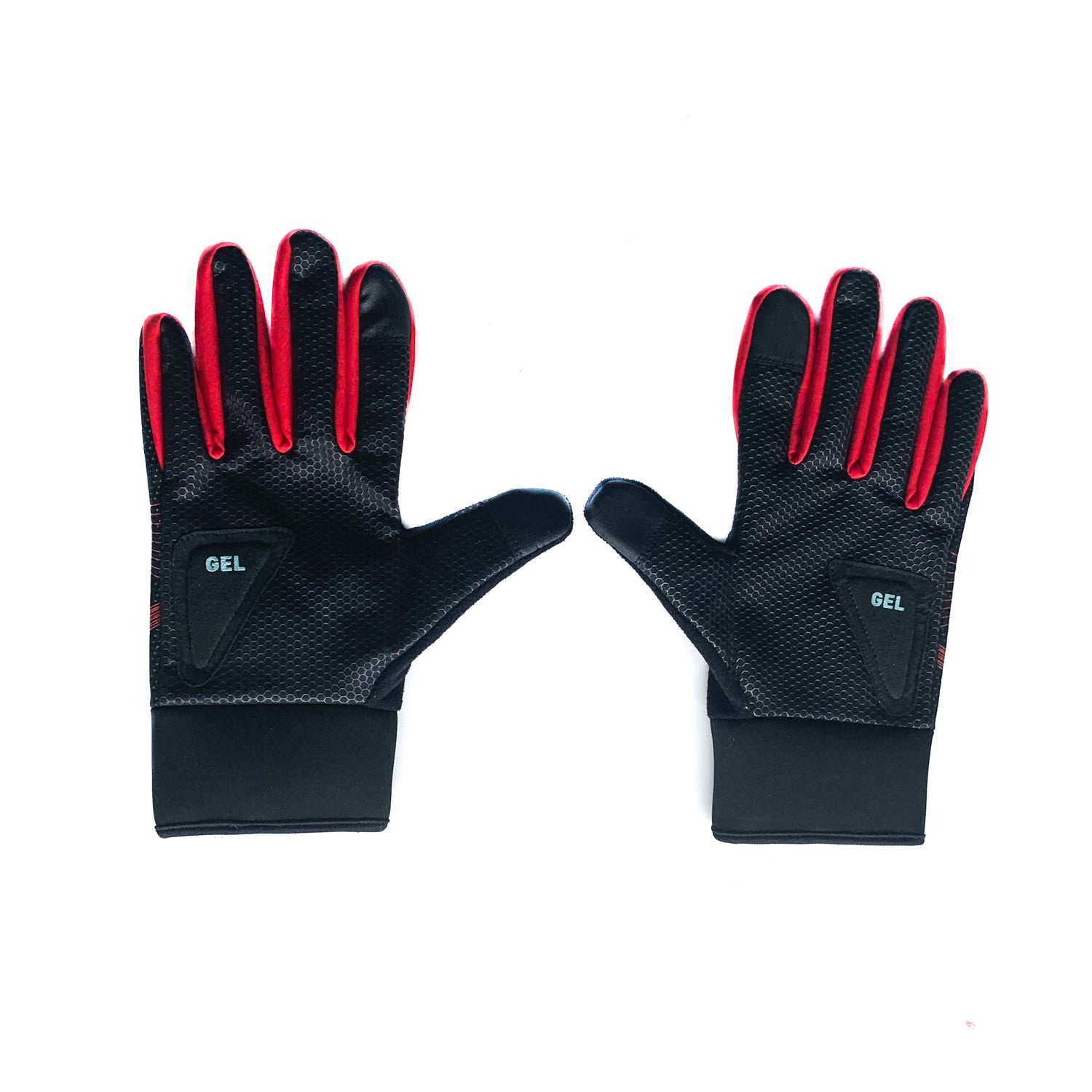 Gymstore Black/Red Cycling Gloves Wind Stopper