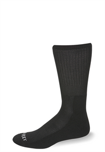 Pro Feet Lightweight Dress Crew Socks, Dark Brown (6 Pairs) - 5825