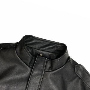 A Cold Winter Ladies Leather Jacket