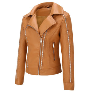 Maple Green Gables Ladies Leather Jacket