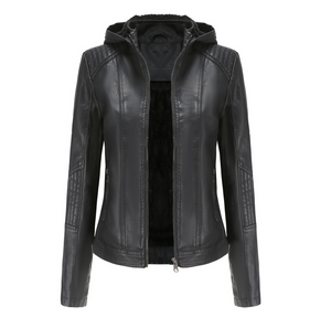 West Europe Ladies Leather Jacket