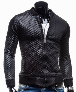 Prix Gorge Mens Fitted Leather Jacket