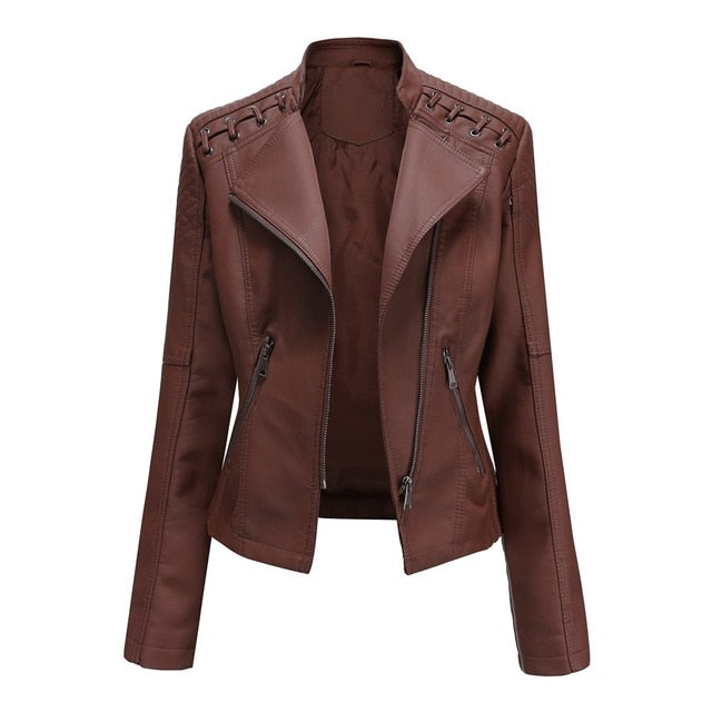 Clydesdale Crop Ladies Leather Jacket
