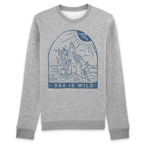 Pull en Coton Bio Sea Is Wild - Unisexe